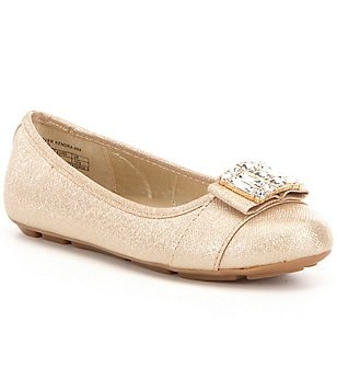 MICHAEL Michael Kors Girl´s Rover Kendra Glitter Crystal Embellished Ballerina Flats