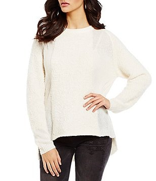 Chelsea & Violet Mixed Texture Long Sleeve Sweater