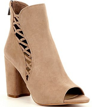 Jessica Simpson Millo Side Lace Up Peep Toe Shooties