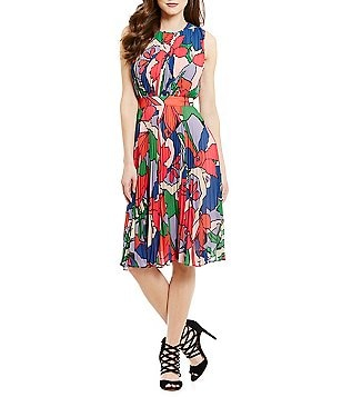 CATHERINE Catherine Malandrino Printed Sleeveless Dress