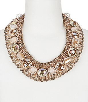 Natasha Accessories Stepping Stone Statement Necklace