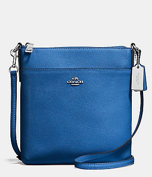 COACH COURIER CROSSGRAIN LEATHER CROSS-BODY BAG