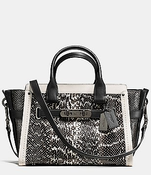 COACH SWAGGER 27 GENUINE SNAKE SATCHEL
