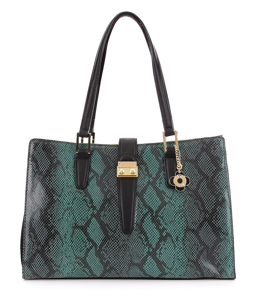 Antonio Melani Lock It Snake-Print Tote