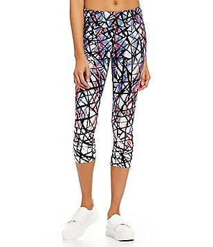 Calvin Klein Performance Rhapsody Print Cropped Leggings