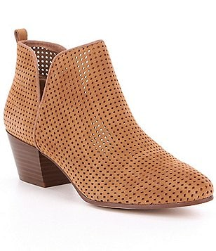 Sam Edelman Rio Perforated Suede Booties