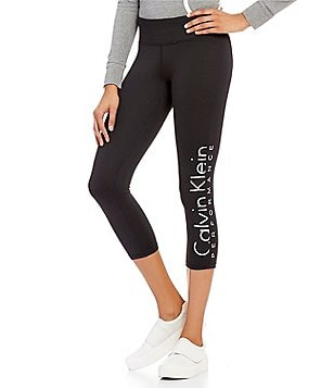 Calvin Klein Performance Side-Leg Logo Cropped Legging