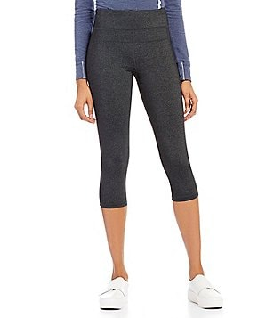 Calvin Klein Performance High-Waist Heathered Knit Cropped Legging