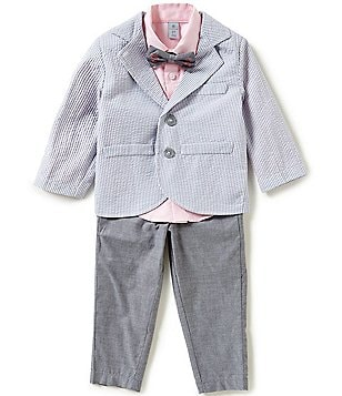 Class Club Little Boys 2T-7 Seersucker 4-Piece Suit Set