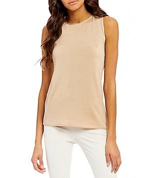 Eileen Fisher Ballet Neck Sleeveless Tank