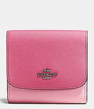 COACH COLOR BLOCK SMALL WALLET