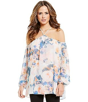Gianni Bini Virginia Halter Neck Cold Shoulder Top