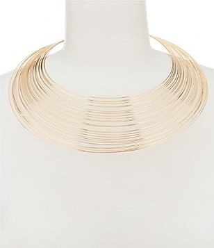 Natasha Accessories Multi-Row Statement Necklace