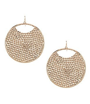 Natasha Accessories Pebble-Filled Hoop Earrings