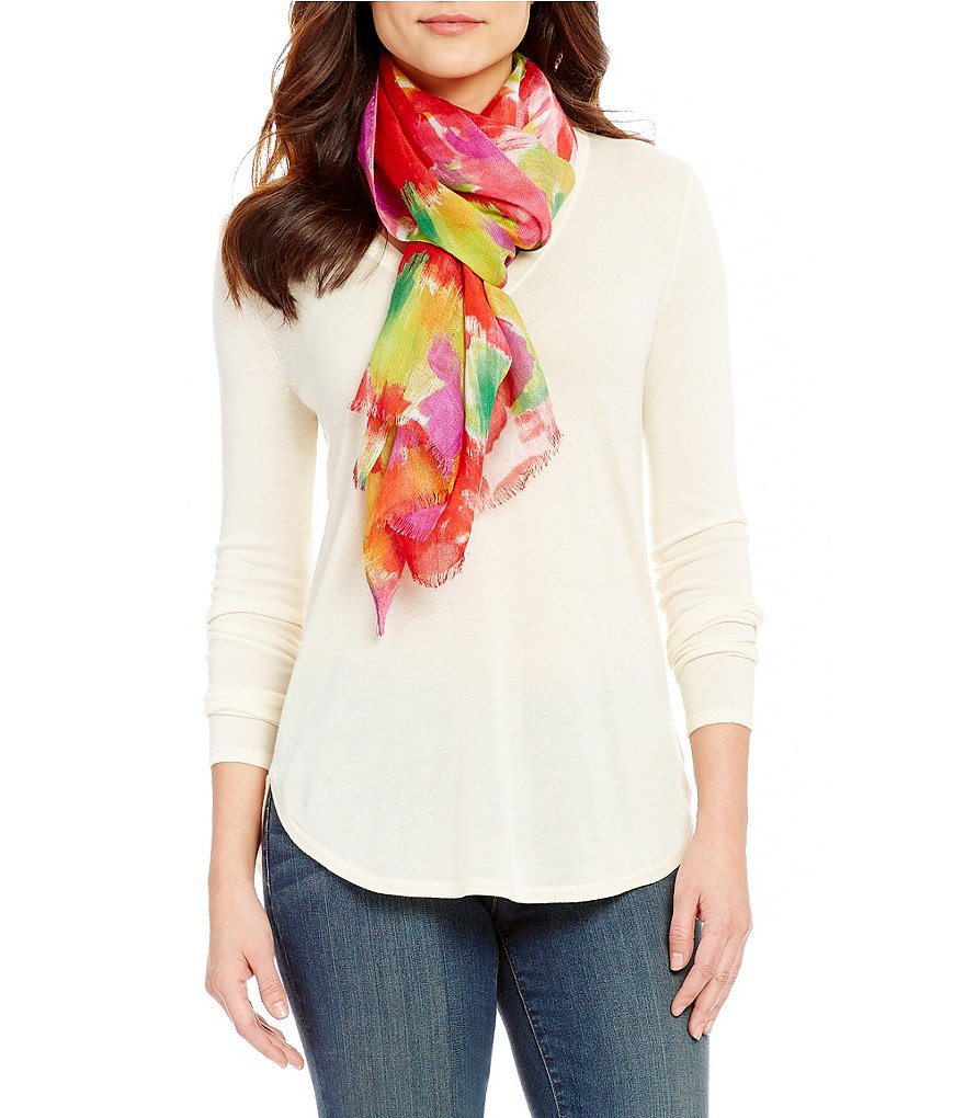 Lauren Ralph Lauren Nina Watercolor Floral Oblong Scarf
