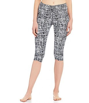 Half Moon by Modern Movement Crosshatched Ruched Capri Leggings