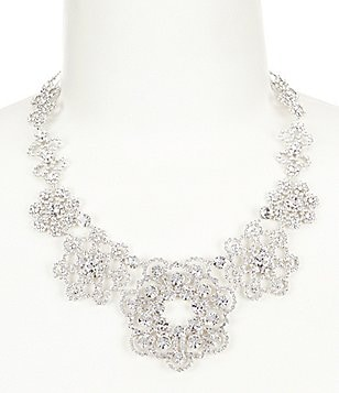 kate spade new york Crystal Lace Floral Statement Necklace
