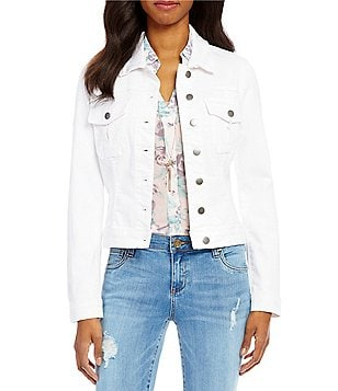 KUT from the Kloth Amelia Point Collar Button Front Denim Jacket