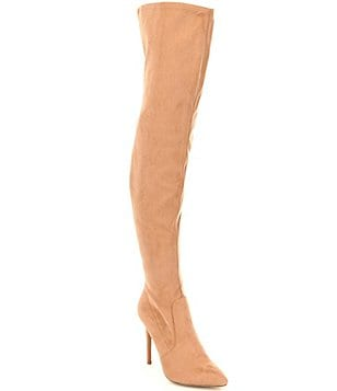 Steve Madden Kristof Suede Pointed-Toe Over The Knee Boots