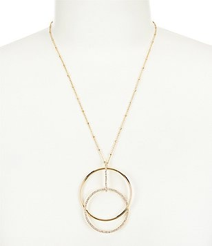 kate spade new york Ring It Up Linked Circle Pendant Necklace