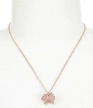 kate spade new york Pavé Pig Mini Pendant Necklace