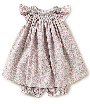 Petit Ami Baby Girls 3-24 Months Ditsy-Floral Smocked Dress