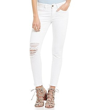 Gianni Bini Cameron 5-Pocket Distressed Skinny Ankle Denim Pant