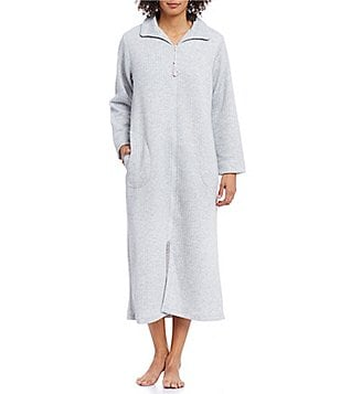 Miss Elaine Quilted Zip-Front Robe
