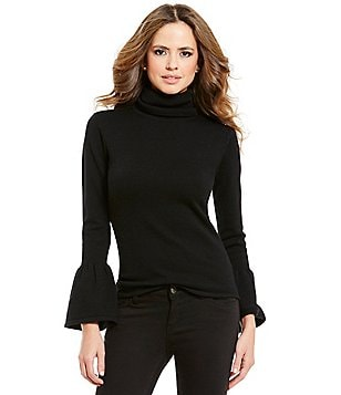 Gianni Bini Eloise Bell Sleeve Turtle Neck Sweater
