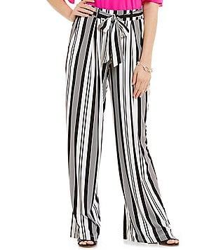 Gibson & Latimer Striped Wide-Leg Palazzo Pant
