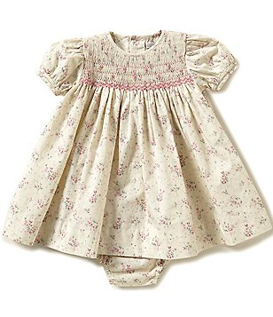 Petit Ami Baby Girls 3-24 Months Floral Smocked Dress