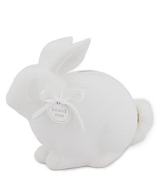 Mud Pie Baby Puff-Tail Bunny Piggy Bank