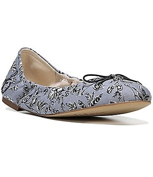 Sam Edelman Felicia Leaf Print Fabric Bow Detail Slip-On Ballet Flats