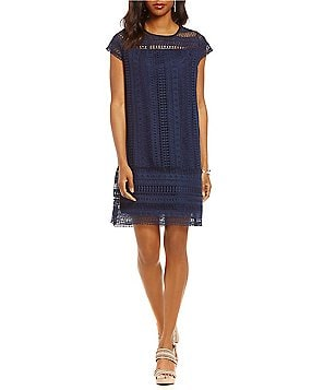 Gibson & Latimer Cap Sleeve Lace Dress
