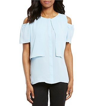 Cremieux Haven Coldshoulder Blouse