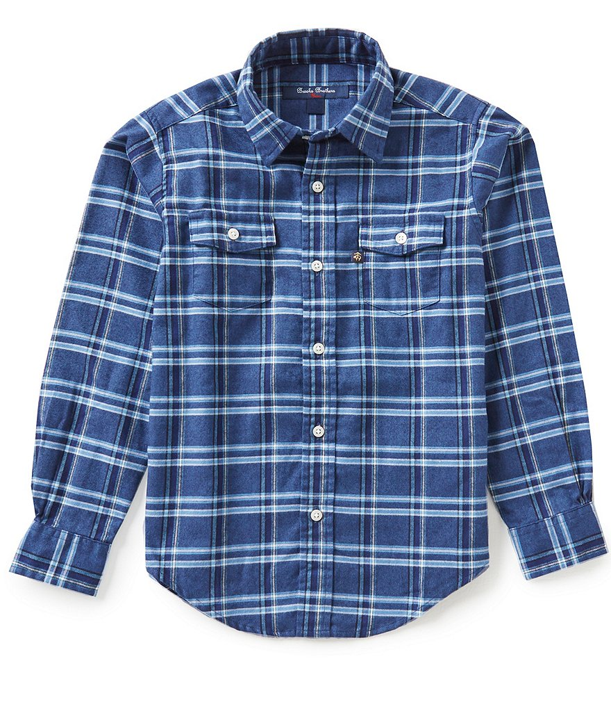Brooks Brothers Little/Big Boys 4-20 Plaid Flannel Long-Sleeve Shirt
