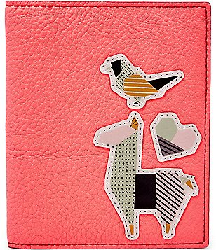 Fossil Llama-Appliquéd RFID Passport Case