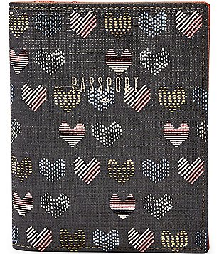 Fossil Heart-Print RFID Passport Case