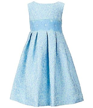 Little Angels by Us Angels Little Girls 2T-6X Sleeveless Floral Brocade Pleated A-Line Dress