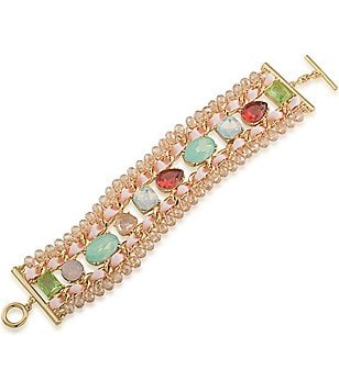 Carolee Cosmopolitan Club Statement Line Bracelet