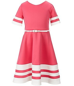 Blush by Us Angels Big Girls 7-16 Scuba Skater Belted Dress