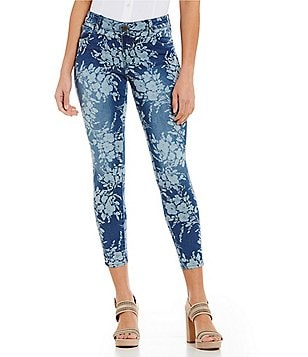 KUT from the Kloth Eva Floral Print Ankle Skinny Jeans