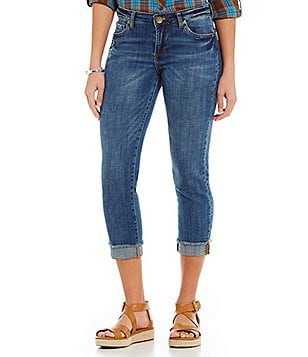 KUT from the Kloth Amy Crop Straight-Leg Roll Up Jeans