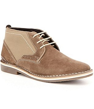 Steve Madden Men´s Hotshot Leather Two Tone Lace Up Chukka Boots
