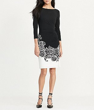 Lauren Ralph Lauren Paisley Sheath Dress