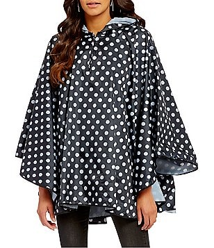 Collection 18 Polka Dot Hooded Rain Poncho