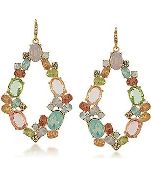 Carolee Cosmopolitan Club Hoop Drop Earrings