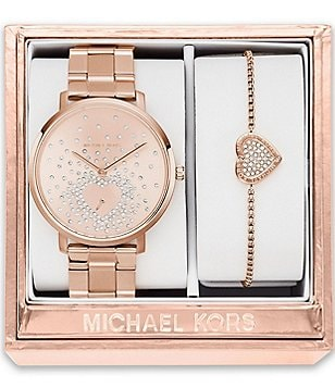Michael Kors Jaryn Watch & Bracelet Gift Set