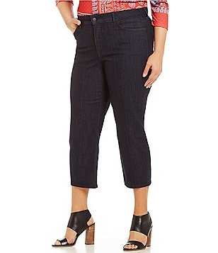 NYDJ Plus Marilyn Relaxed Straight Leg Capri
