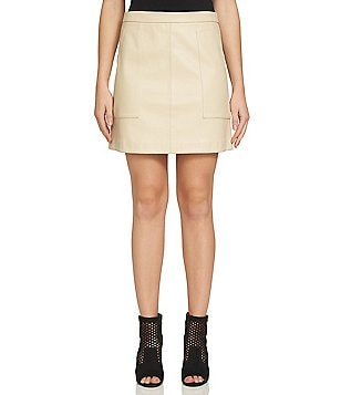 1. STATE Faux-Leather Mini Skirt